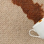 Coffee stain removal Glasgow carpet cleaning www.albafloorcare.co.uk